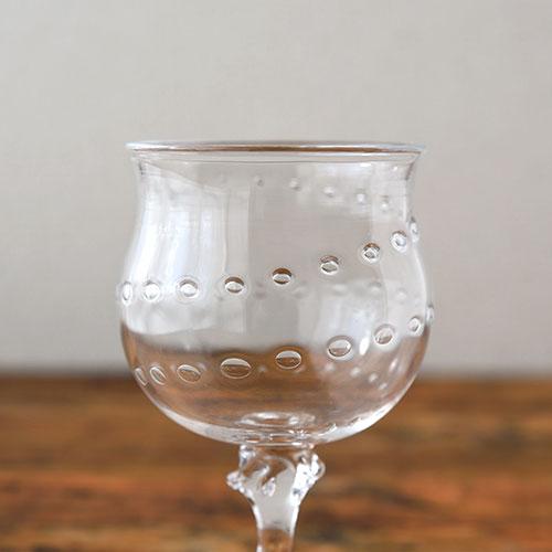 ワイングラス(らせんの泡)