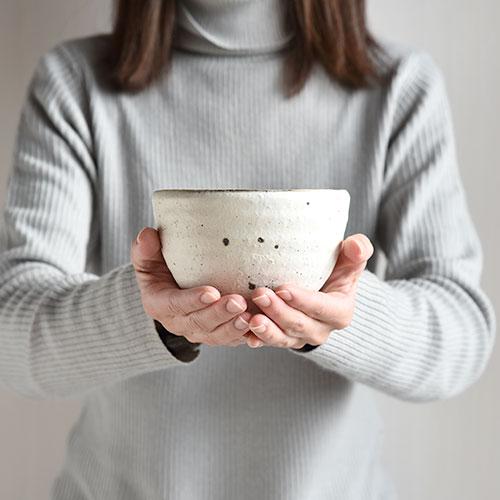 粉引 どんぶり・小【陶器・粉引】/十河 隆史