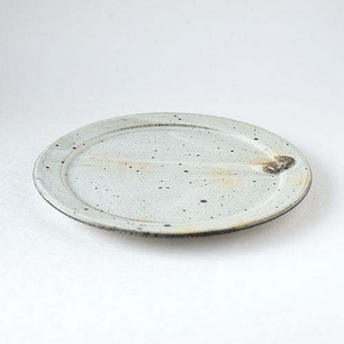 粉引 幅広リム皿・直径20cm【陶器・粉引】