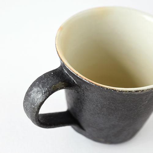 白黒 マグカップ【陶器・粉引】/十河 隆史